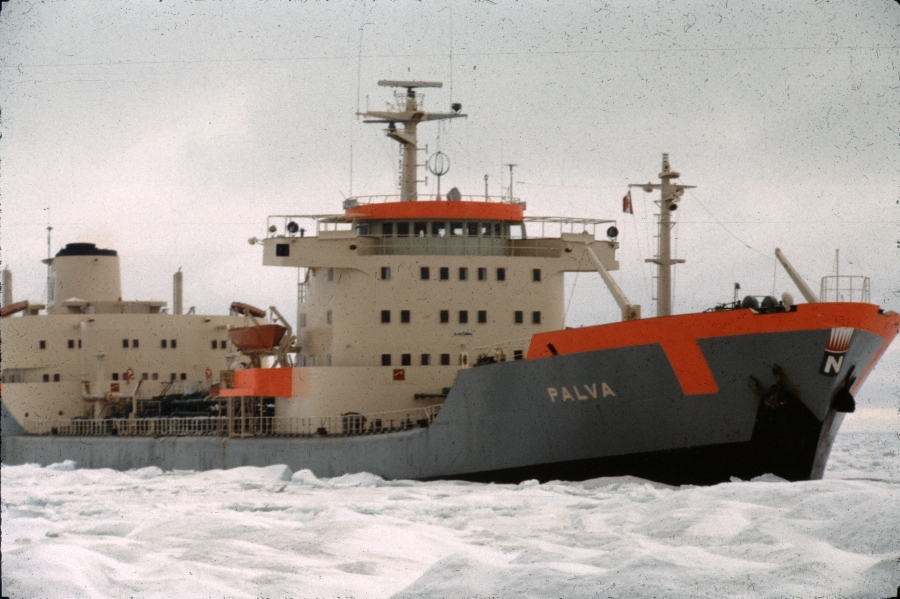 Finnish tanker Palva at Rae Point 1975 Photograph Courtesy of Don Smith