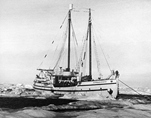 RCMP ship St Roch in Arctic Waters (1928-1945). Courtesy of The Glenbow Archives PA-148-202 PA-